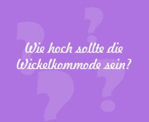 Wickelhöhe