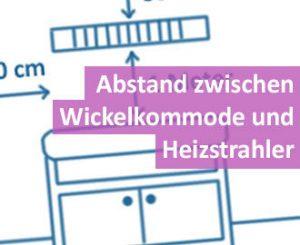 Abstand zwischen Wickelkommode und Heizstrahler