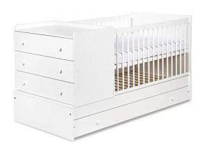 babybett mit integrierter wickelkommode