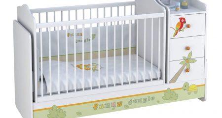 Babybett mit Wickelkommode