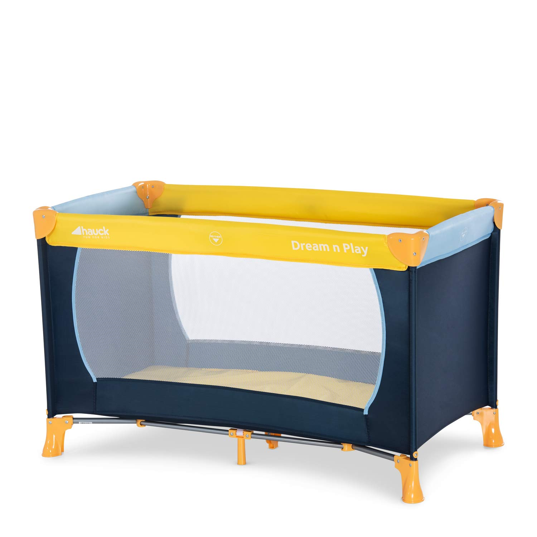 faltbar Hauck Sleeper Reisebett-//Schaumstoff Matratze waschbar 60 x 120 cm blau inkl Transporttasche 3-teilig zusammenklappbar Hippo 6 cm hoch
