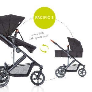 Kinderwagen mit drei Rädern