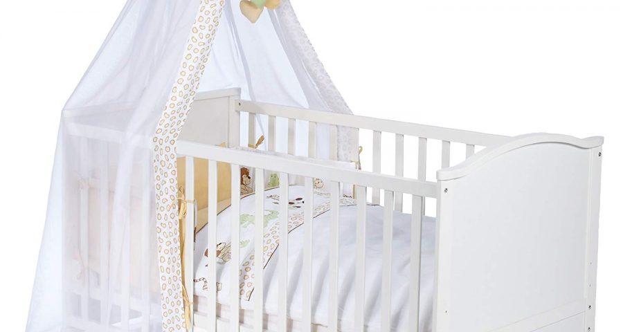 Wei/ß Best For Kids Gitterbett 2 in 1 Patrick 70x140 cm mit Matratze 10 cm Juniorbett Kinderbett Babybett in zwei Farben