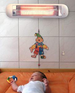 baby heizstrahler test