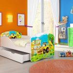 M&L Kinderbett mit Matratze, Lattenrost, Bettkasten